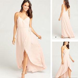 Show Me Your MuMu Mariah Wrap Dress Blush Pink
